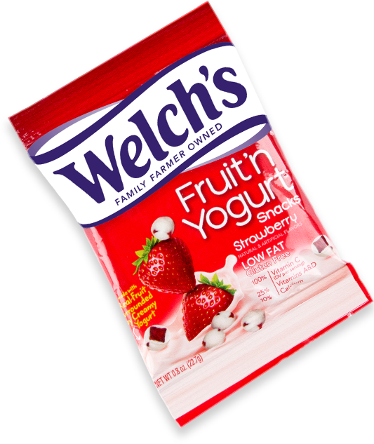 strawberry fruit and yogurt snacks